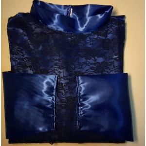 Ритуальное платье атлас (со вставкой гипюр)