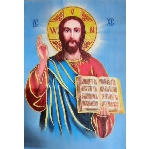 Салфетка лик (Иисус) заготовка для покрывала из габардина 50х36
