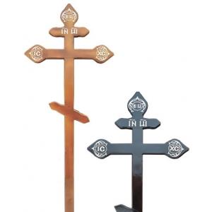 Крест из сосны (темный,светлый) резной