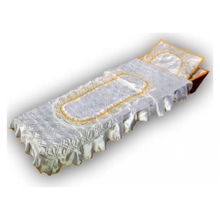 Ритуальный комплект Элегия, золото (покрывало+подушка)
