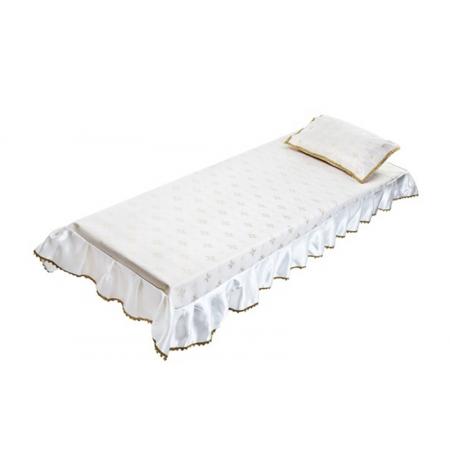 Ритуальный комплект Звонница, серебро (покрывало+подушка)