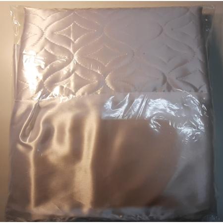 Ритуальное покрывало (атлас) стеганое с белой оборкой