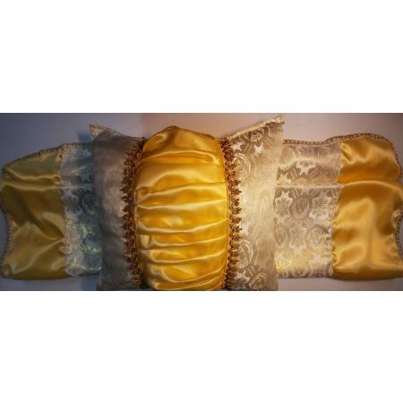 Ритуальный комплект Купеческий, золото (покрывало+подушка)