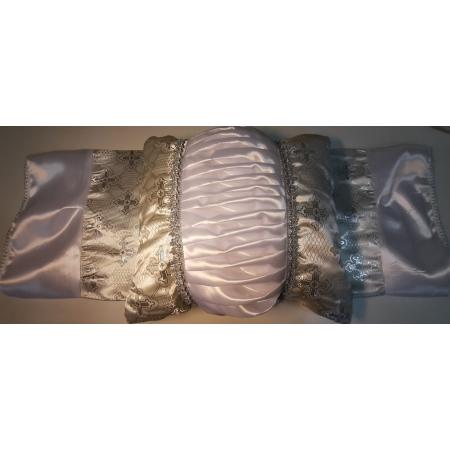 Ритуальный комплект Купеческий, серебро (покрывало+подушка)
