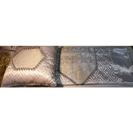 Ритуальный комплект Ладья, серебро (покрывало+подушка)