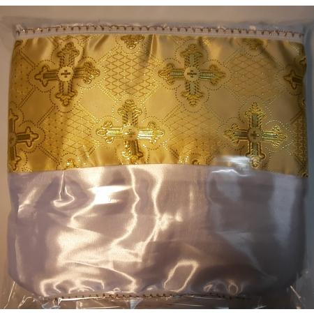 Ритуальный комплект Собор, золото(покрывало+подушка)