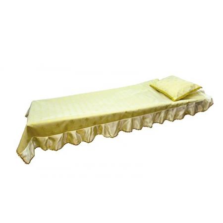 Ритуальный комплект Звонница, золото(покрывало+подушка)