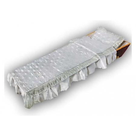 Ритуальный комплект Собор, серебро (покрывало+подушка)