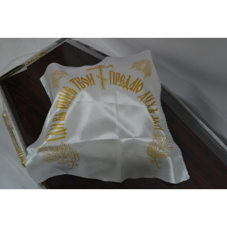 Накидка из атласа церковная (с золотом напылением) 50 х 50 см